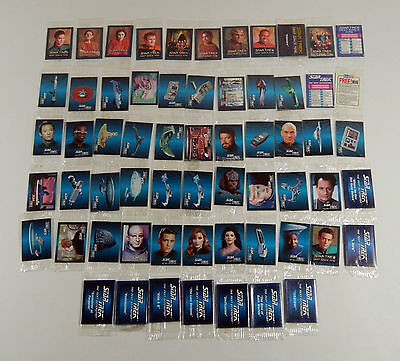 1993 Hostess Star Trek Minis (50) Episode Mini Posters (10) Sets Sealed  TNG DS9