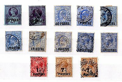 British Levant QV/KGV Collection of 13 Unchecked X5755