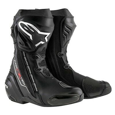 Alpinestars Supertech R Black Motorcycle Boots Free Express Eu Delivery