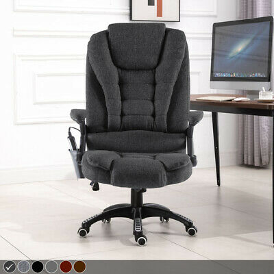 Executive Leather Gaming Computer Desk Office Swivel Reclining Massage Chair