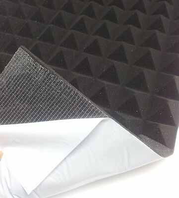 Pyramids Foam SELF ADHESIVE Insulation Acoustic Sound protection ca. 49 x 49 cm