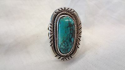 Native American Turquoise Silver Ring 50% Off