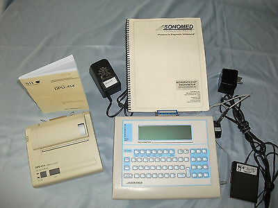 Sonomed Micropach 200P+ Pachymeter With Probe  Printer and  Accessories