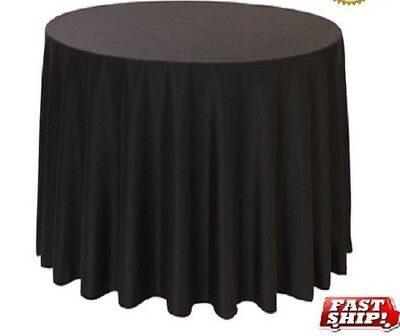 12 NEW PREMIUM BLACK RESTAURANT WEDDING LINEN TABLE CLOTHS POLY 52x52