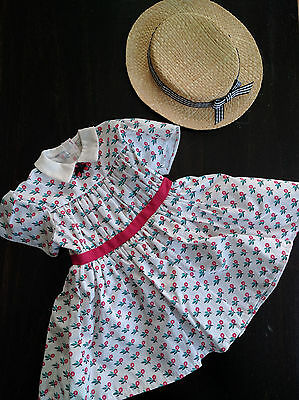 American Girl Addy's summer dress & straw hat set new in original box
