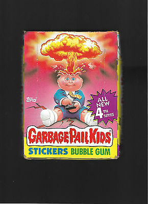 1986 Topps Garbage Pail Kids  4Th Series Box 48 Packs Look  Mint Box Is Clean !