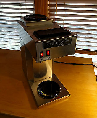Commercial Mr. Coffee Brewer Double Burner All Stainless Steel Coffee Maker