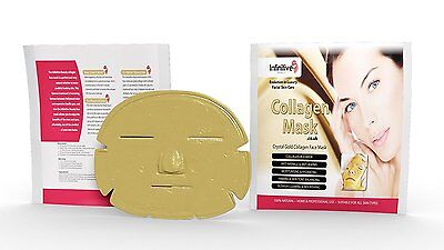 20xNew Infinitive Beauty Crystal Gold Powder Gel Collagen Face Mask Face-Mask20