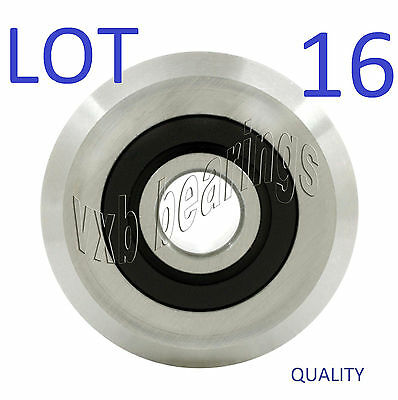 """Lot (16) VGroove ID 3/8""""inch V Groove Belt Pulley Guide Way Sealed Ball Bearing"""