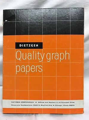 Dietzgen 341 Quality Graph Papers Vintage Paper 8.5 X 11 Looks Full