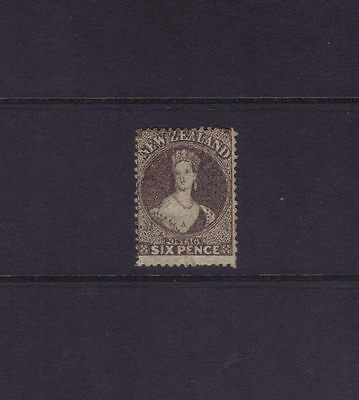 New Zealand Sg 75; 6d Black-brown Chalon Wmk Star Perf 13,VFU.cv £225++