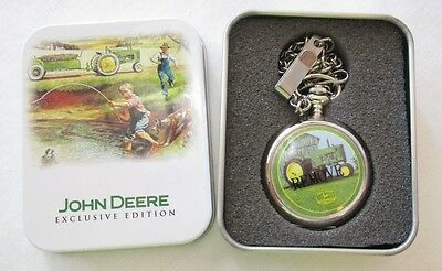 John Deere Exclusive Edition Pocket Watch in Commemorative Tin New in Box