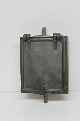 Vintage Antique Cast Iron Hinged Door - Coal, Furnace, Stove - Steampunk