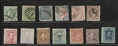 Spain  lot  of  used  and better  mint  stamps              MS0219