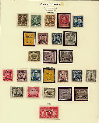 Canal  Zone  nice one page lot  most mint   high catalog value            MS0226