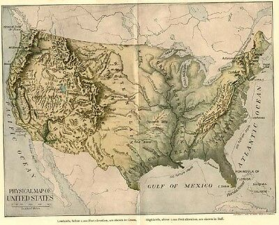 3 UNITED STATES Maps: Authentic 1903 (Dated) East US, West US, & Topographical