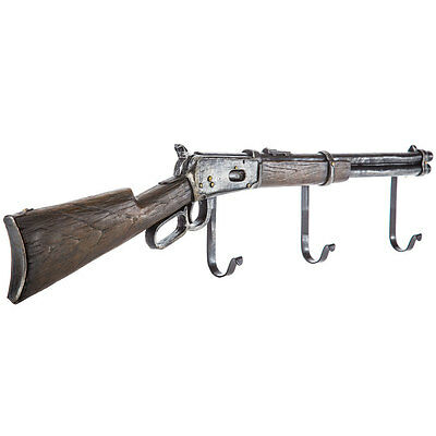 Shotgun Wall Mount Hook Resin Coat Rack Hunting Cabin Rifle Gun Farmhouse Decor