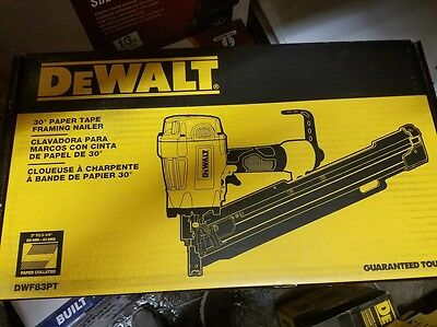 New Dewalt Dwf83Pt Pneumatic 30 Degree Angled Framing Nailer Kit Sale 5701073