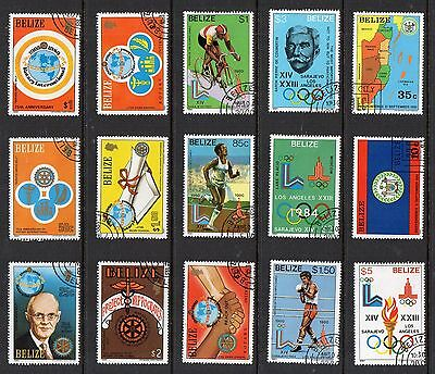 BELIZE 1981 Stamps Collection USED inc OLYMPICS ROTARYL Thematics Ref:QE532
