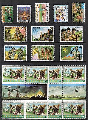 SCOUTS  Thematic Stamp Collection MINT USED REF:TS197