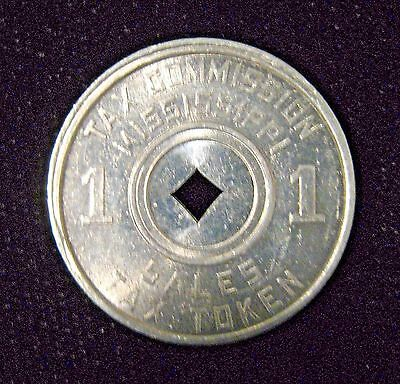Vintage 1920s-1940s Tax Commission Mississippi Sales Tax Token Coin.