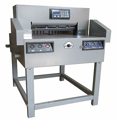 """650mm Programmable Paper Guillotine Cutter Cutting Machine+CE,25.6"""" Stack"""