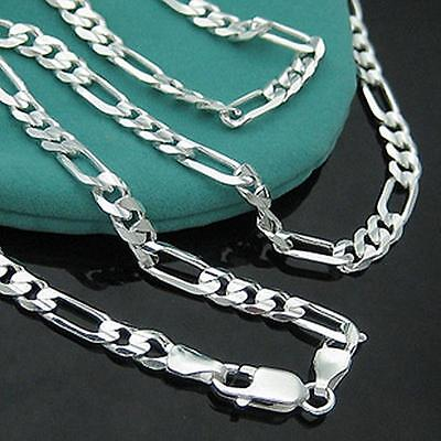 4/2/1 pcs Men's Stainless Steel Necklace Curb Figaro Chain Link Silver Necklace