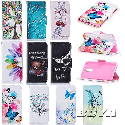Cute Patterns Phone Case for LG G6/K10(2017) PU Leather Wallet Folding Cover