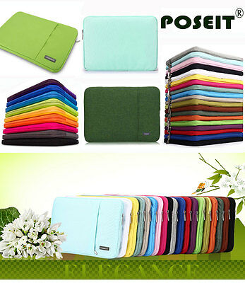 """Laptop Sleeve Pouch Bag Case For MacBook / NoteBook 11.6"""" 13.3"""" 15.4"""" 15.6"""" 17"""""""