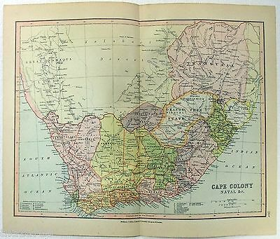 Original Map of The Cape Colony by Wm Collins Sons & Co. c1875