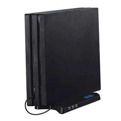 Vertical Stand Type Game Disc Storage Holder USB Charging Stand For PS4 PRO FD