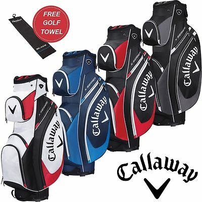 Callaway 2017 X Series Cart Bag Mens Golf Trolley Bag 14-Way+ Free Gift