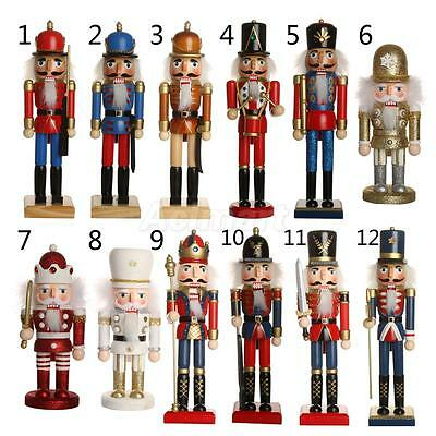 Wooden Handpainted Nutcracker Crafts Christmas Ornament Festival Decoration Gift