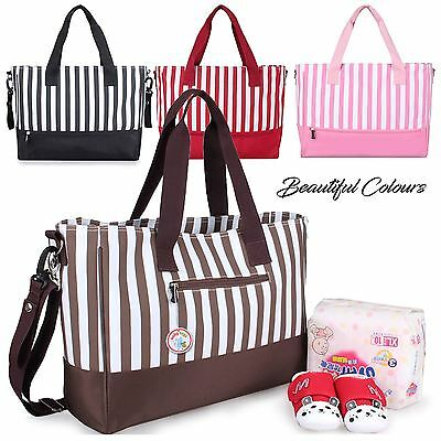 Mummy Maternity Baby Nappy Changing Bag Stylish 5 pcs Set