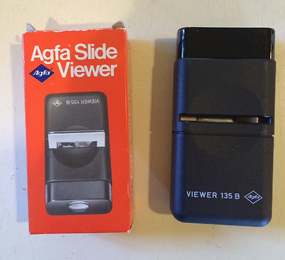 Vintage Agfa Slide Viewer 135 B With Box, for 2x2 Slides