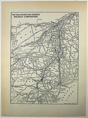 Original 1930 Delaware and Hudson Railroad System Map by M. B. Brown