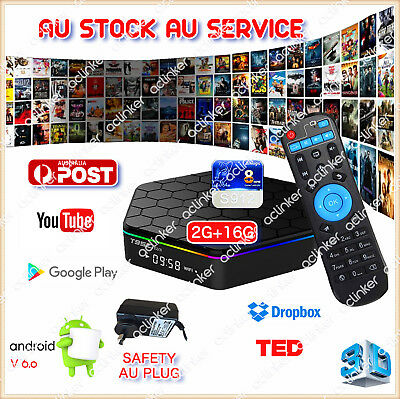 T95Z Plus 2/16G S912 Octa Core TV BOX Android 6.0 16.1 Fully Loaded Media Player