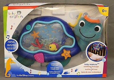 BABY EINSTEIN Baby Neptune Musical Light Up Turtle Crib Toy For Infants 0+ NIB