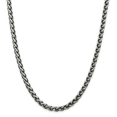 """.925 Sterling Silver 6.0mm Antiqued Fancy Link Chain Necklace 8.5"""" - 24"""""""