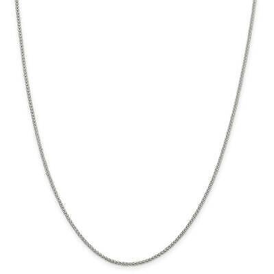 """.925 Sterling Silver 1.60mm Fancy Polished Chain Necklace 16"""" - 24"""""""