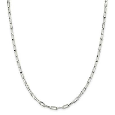 """.925 Sterling Silver 4.25mm Fancy Link Chain Necklace 7"""" - 30"""""""