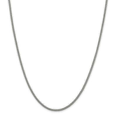".925 Sterling Silver 2.4mm Fancy Polished Chain Necklace 16"" - 24"""
