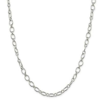 ".925 Sterling Silver Fancy Link Chain Necklace 7"" - 30"""