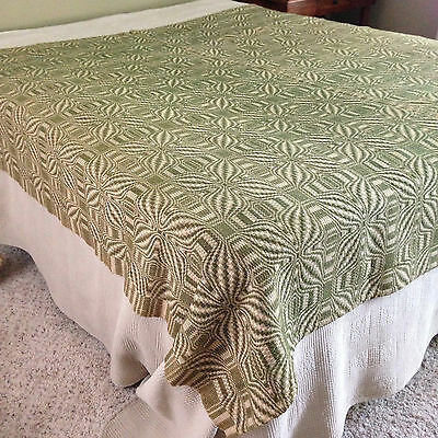 Beautiful Antique Handwoven Coverlet-Excellent  Condition! Reversible