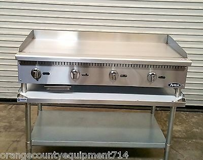 "NEW 48"" Gas Griddle & EQUIPMENT Stand Atosa ATMG-48 4176 Plancha Flat Top Grill"