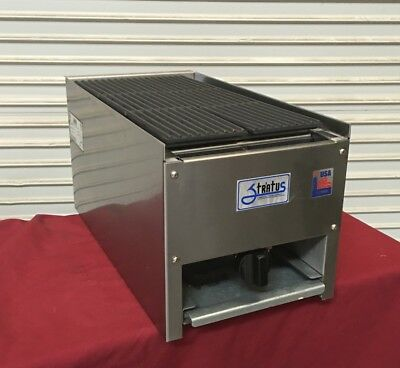 "NEW 12"" Lava Rock CharBroiler Grill Gas Stratus SCB-12 #4095 Commercial Cook NSF"