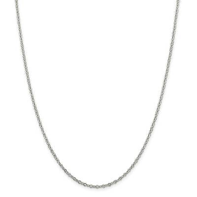 """.925 Sterling Silver 2.25mm Fancy Pendant Chain Necklace 7"""" - 24"""""""