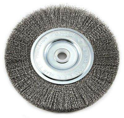 "Forney Industries 72747 Crimp Wire Wheel Brush, 6"" x 1/2""-5/8"", Fine"