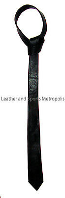 Stylish Black Leather Ties