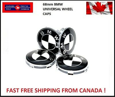 4 BMW Emblem Logo Badge Hub Wheel Rim Center Cap 68mm E46,E90 M E60 Universal BW